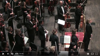 Miriam Burns conducting Brahm's Symphony No. 3 MovementIII